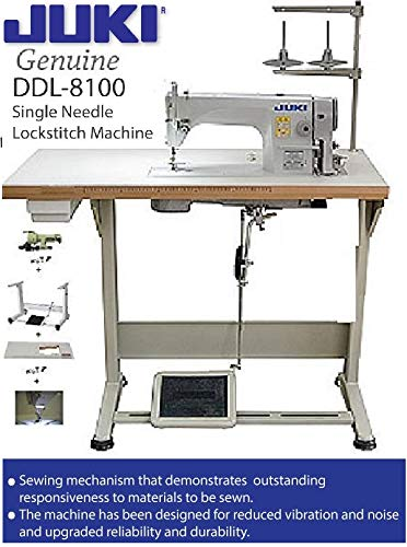 Juki DDL-8100 Economy Straight Stitch Industrial Sewing w/servo Motor, DDL-8700 Table Cut,lamp. DIY. (Machine Table Sewing Industrial)