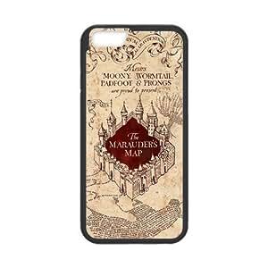 "Harry Portter iPhone 6 4.7"" Case Hogwarts Marauder's Map Pattern Design iPhone 6 4.7"" Back Cover Case (Laser Technology)"