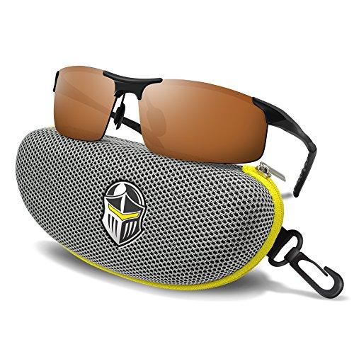 BLUPOND Polarized Anti-Glare Copper Lens DAYTIME Driving Sports Sunglasses + Metal & Semi-Rimless for Men & Women Eyewear – DiZiSports Store