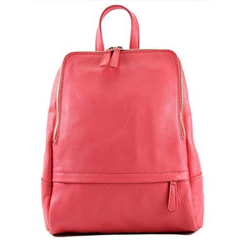 Gum ital Leather T138 Rucksack modamoda Bubble de Backpack Backpack Leather Citybag Bag Ladies gqn6x7n