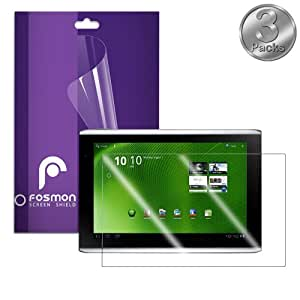 Fosmon Crystal Clear Screen Protector Shield for Acer Iconia Tab A500 (3 pcs pack)