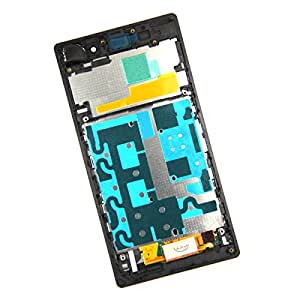 SKILIWAH For Sony Xperia Z1 L39 L39H C6902 C6903 C6906 Full LCD Touch Screen Digitizer Display Assembly (Black with Frame)