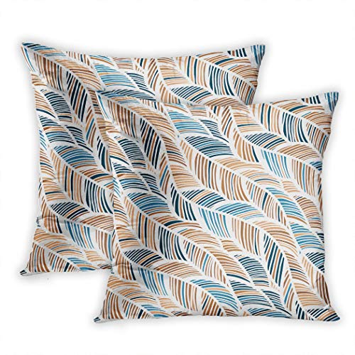 Sgvsdg Set of 2 Throw Pillow Cover Abstract Decorative Backdrop Fabric Textile Wrapping Paper Card Invitation Wallpaper Web 20 X 20 Inch Square Hidden Zipper Home Cushion Decorative Pillowcase