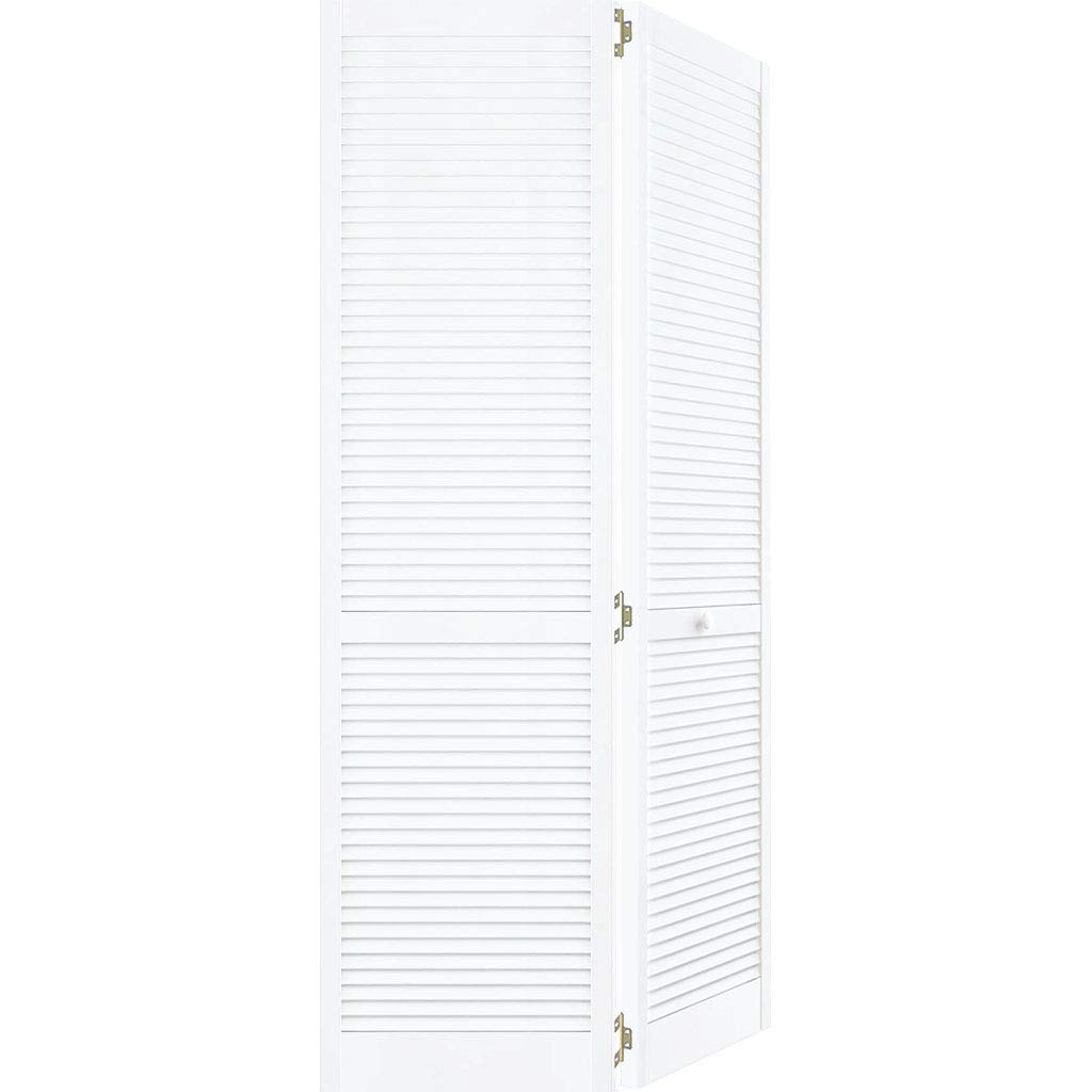 Closet Door, Bi-fold, Kimberly Bay Traditional Louver-Louver White (80x24)