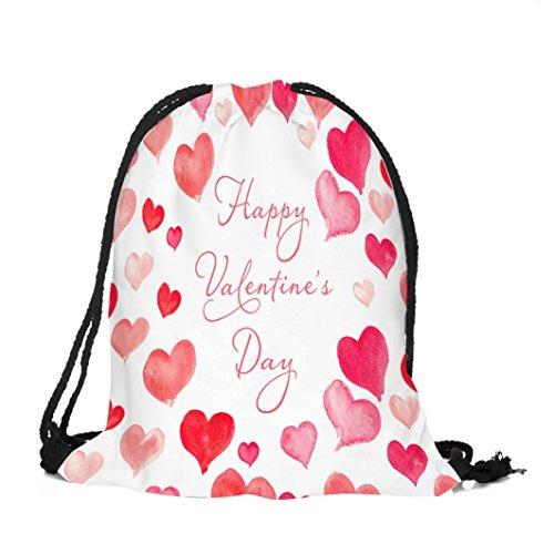 zarupeng San Valentín bolsa con cordón Sack Sport Gym Travel Mochila al aire libre A