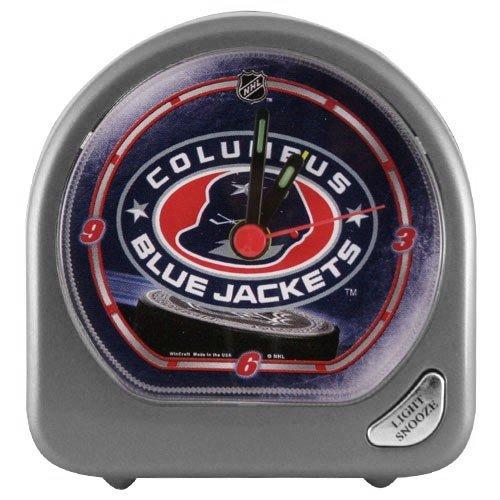 WinCraft NHL Columbus Blue Jackets Alarm Clock, - Columbus Jackets Clock Blue