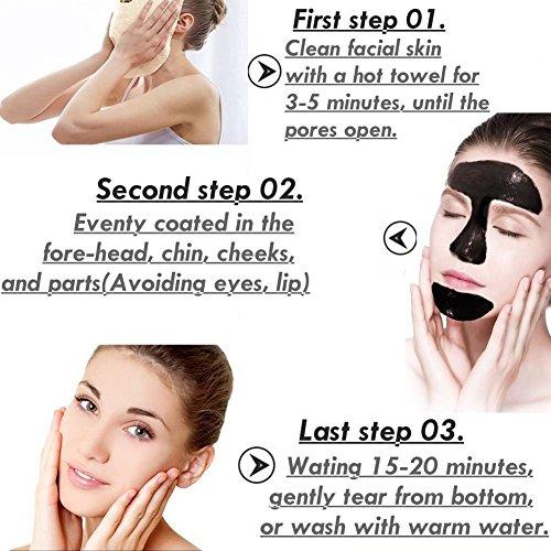 Espinillas máscaras ,Mabox mascarilla, removedor de la espinilla de la máscara de barro Negro, En la cara del estilo de rasgado Cuidado de eliminación de ...