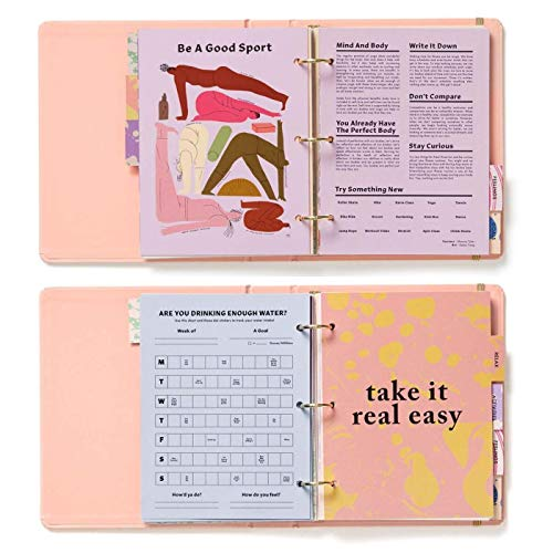 ban.do 3 Ring Binder Undated Wellness Planner, Includes Sections On Balance, Relaxation, Activities, Feelings, Goals/Day Planning, Take Care