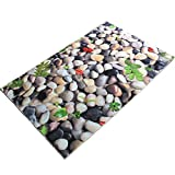 "Ustide Washable Home Decor Cobblestone Rugs Anti-Slip Anti-Bacterial Accent Rug Carpet for Living Room and Dining Room 25""x80"""