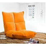 Merax Lazy Sofa Floor Cushion Sofa Chair Folding Beach Chair Gaming Chair, Orange