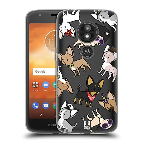 Head Case Designs Chihuahua Dog Breed Patterns Soft Gel Case for Motorola Moto E5 Play ()