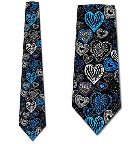 - Heart Ties Mens Valentines Day Holiday Necktie by Thee Rooker