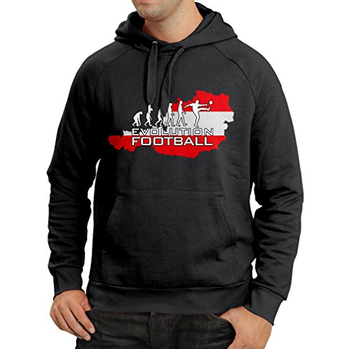 (Hoodie The Austrian National Football Team Evolution (XX-Large Black Multi Color))