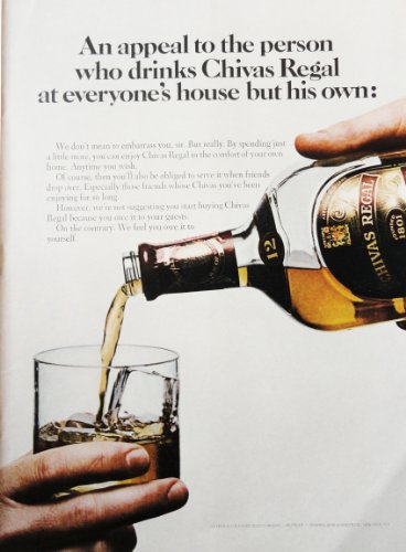 (Chivas Regal Whiskey, 60's Color Illustration, 8 1/2