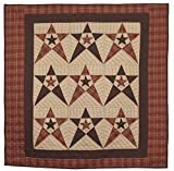 Primitive Country Star Wall Hanging Quilt 44 Inches by 44 Inches 100% Cotton Handmade Hand Quilted Heirloom Quality