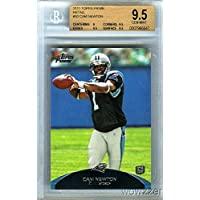 $39 » 2011 Topps Prime Retail #50 Cam Newton ROOKIE BGS 9.5 GEM MINT ! Carolina Panthers Superstar Quarterback ! Shipped in Ultra Pro Graded Card…
