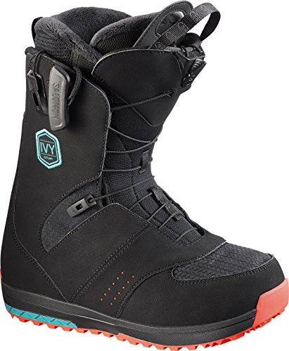 Salomon Snowboards Ivy Boa Snowboard Boot - Women's Black/Teal Blue, 5.0