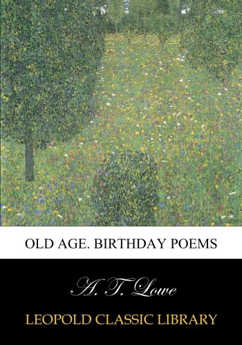 Download Old age. Birthday poems pdf