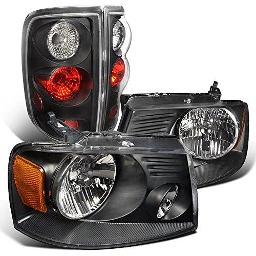 Spec-D Tuning LT2LH-F15004J-RS Headlight Tail Light (Style Side Crystal Black -