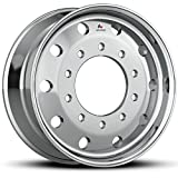 "Automotive : Accuride 22.5"" x 9"" Flat-Face 10000LB Steer 10 Lug Semi-Polished Wheel (40012SP)"