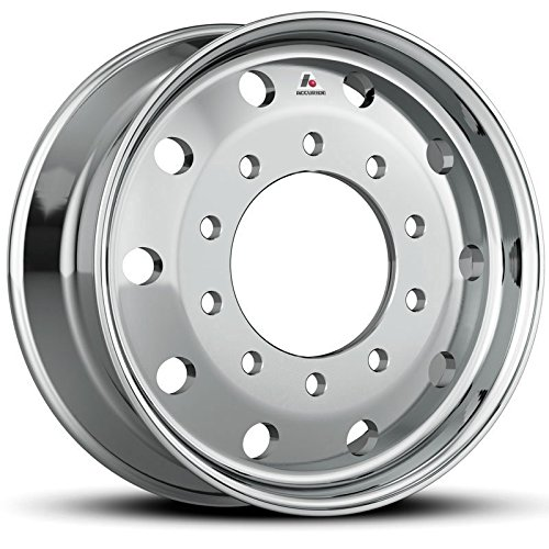 Accuride 22.5'' x 9'' Flat-Face 10000LB Steer 10 Lug Polished Front Wheel (40012AOP) by Accuride