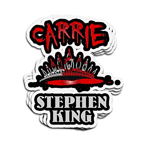 3 PCs Stickers Carrie Cover Tribute Stephen King 4 × 3 Inch Die-Cut Wall Decals for Laptop Window