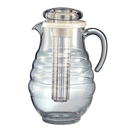 Service Ideas AWP33RB 3.3-liter Water Pitcher w/ Ribbed Surface, Clear Acrylic AWP33RB