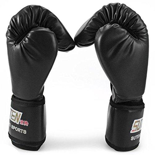 Boxing Gloves, SUTEN 1 Pair PU Boxing Kickboxing Training Fighting Sandbag Gloves Cross Training PU Leather Shock-absorbing Glove