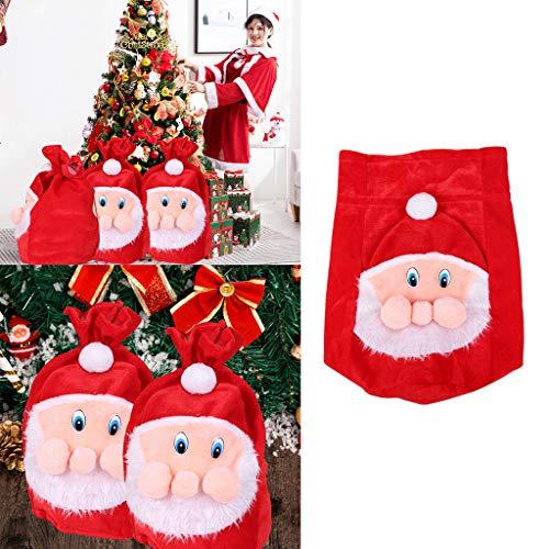 GXOK Santa Claus Large Backpack Gift Bag Gold Velvet Candy Bag Gift Bag Xmas Ornament Gifts Bag (For Large Garden Sale Ornaments)