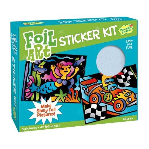 Peaceable Kingdom Sticker Crafts Make My Own Foil Art Sticker Pictures Kit for Kids (Foil Art Kits)