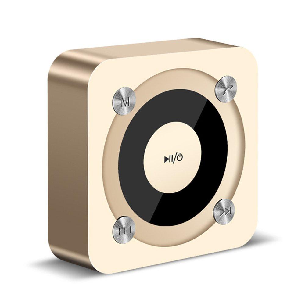 TALLA gold. Altavoz Bluetooth, Elec Portátil Mini Recargable de Viaje para Uso en Interiores, micrófono Incorporado, Sonido estéreo, línea AUX y Ranura para Tarjeta TF (Rose Gold)