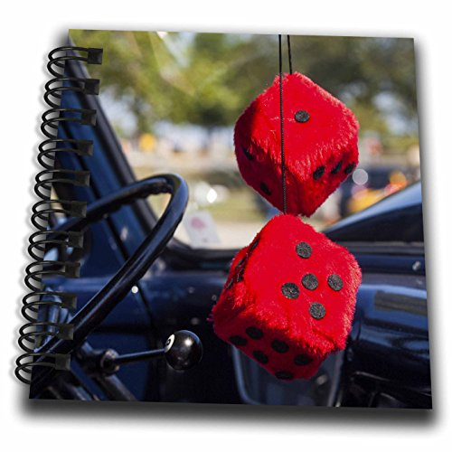 3dRose Danita Delimont - Automobiles - Massachusetts, Cape Ann, Gloucester, antique car with fuzzy dice - Mini Notepad 4 x 4 inch (db_259458_3) (Gloucester Mini)