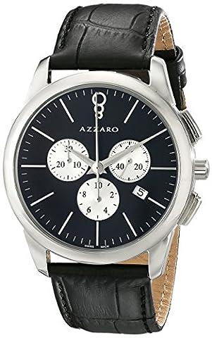 Azzaro Men's AZ2040.13BB.000 Legend Analog Display Swiss Quartz Black Watch (Azzaro Men Quartz)