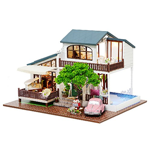Dreams Assembling DIY Miniature Dollhouse Kit Perfect Gift for Valentine's Day-London Holiday