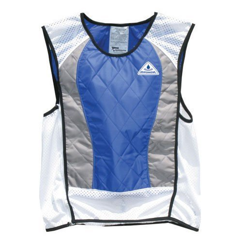 TechNiche International Ultra Evaporative Cooling Sport Vest, XX-Large, Blue/Silver - Mesh Ride Jersey