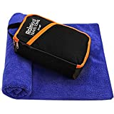 Rainleaf Microfiber Towel,Perfect Fast Drying Towel,Backpacking Towel,Swimming Towel, Absorbent Towel,Microfiber Towels for Body,Ultra Compact-Soft -Lightweight,Blue 34'x60'