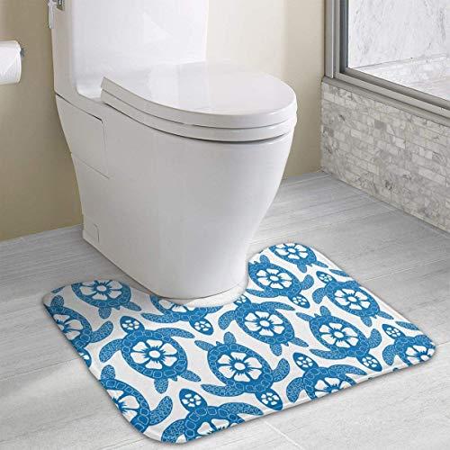 casually Sea Turth Cute Bath Mat Toilet Carpet Doormats Floor Rugs for Bathroom Toilet 19.2″x15.7″