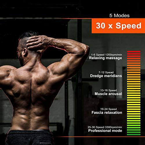 QUIGO Percussion Massage Gun Deep Tissue, Handheld Body Cordless Electric Massager, Back Neck Muscle Pain Relief, 10 Heads Pack, Super Quiet Brushless Motor(Carbon Fiber)