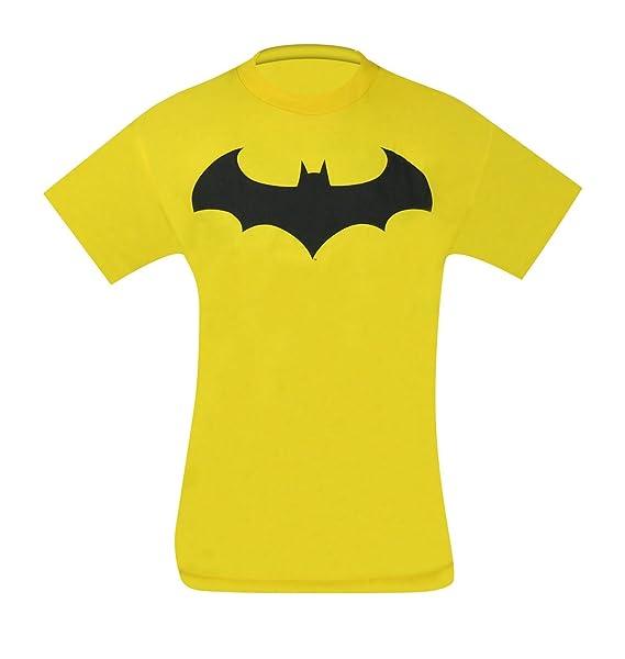 Amazon Batman Symbol Iv Yellow T Shirt Clothing