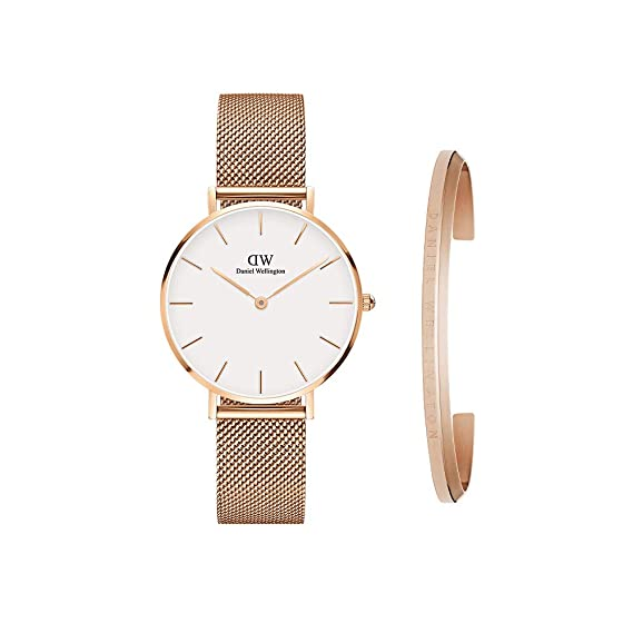 442f71ac1aa2ef Daniel Wellington Women's DW00500003 Gift Set - Classic Petite Melrose 32mm  with Rose Gold Classic Cuff Watch: Amazon.ca: Watches