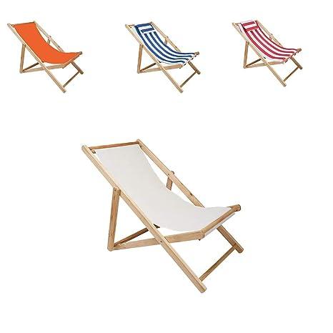 LONGDM Silla de Playa de Madera con reposacabezas, Silla ...