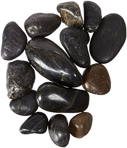 Black FREE SHIPPING 5-Pound Exotic Pebbles Polished Gravel 38-Inch