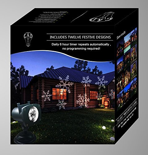 [Projector Lights 12 Pattern Gobos Garden Lamp Lighting Waterproof Sparkling Landscape Projection Light for Decoration Lighting on Christmas Halloween Holiday] (Halloween Lighting)