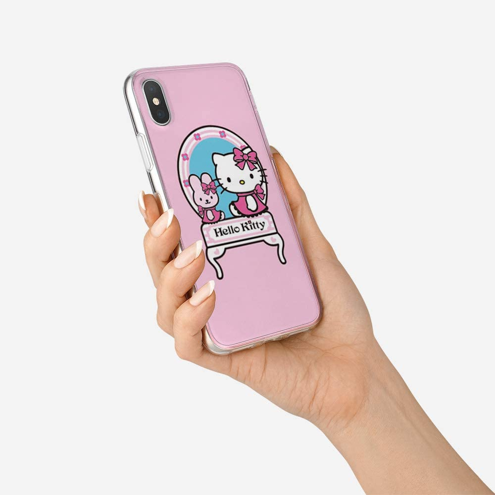 Ultra Thin Transparent Cover Hello Kitty TPU Silicone Crystal Protective Shockproof Anti-fall Shell Compatible for Apple iPhone XS MAX Y2PKZISTORE iPhone XS Max Case #G 6.5 inch