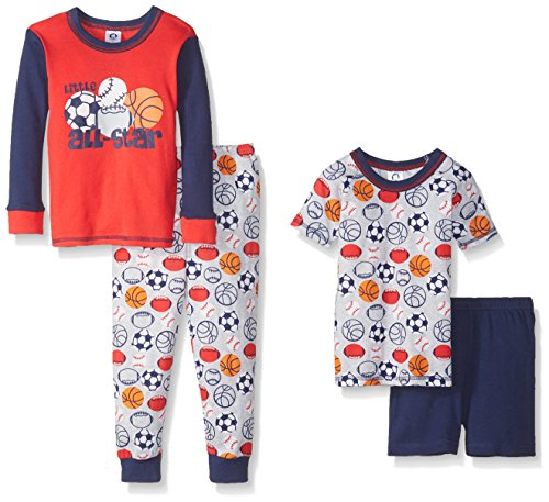 gerber-little-boys-toddler-four-piece-cotton-pajama-set-sports-5t