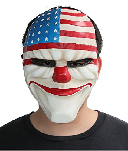 Payday 2 Costumes (Dallas Cosplay Mask Helmet Accessories for Fancy Dress Costume Classical Version)