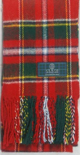 Lambswool Scottish Clan Scarf Drummond Of Perth Modern (Drummond Clan Shop)
