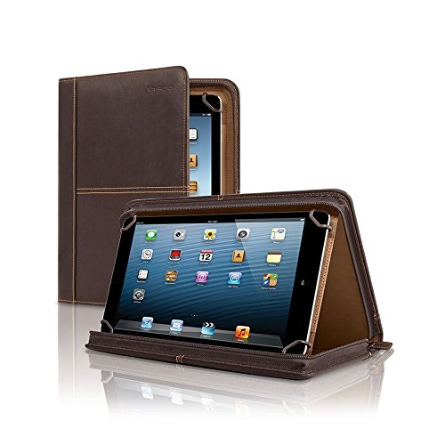 Solo Premiere Leather Universal Tablet Case, 8.5 Inch to 11 Inch, Espresso Premiere Leather