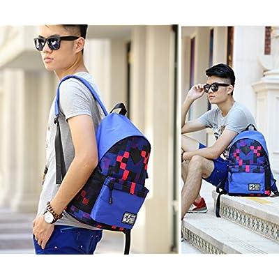 SunBao La version coréenne de la dual-sacs à bandoulière Sac à dos sport féminin petite école grillagées frais sacs et sac de voyage en toile