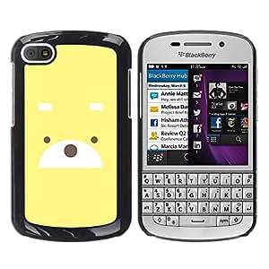 Be Good Phone Accessory // Dura Cáscara cubierta Protectora Caso Carcasa Funda de Protección para BlackBerry Q10 // Cute Bear